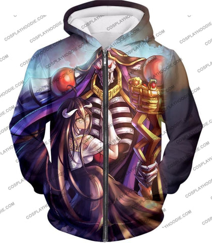 Image of Overlord Ainz Ooal Gown Extremely Evil Sorcerer King Super Cool Anime T-Shirt Ol022 Zip Up Hoodie /