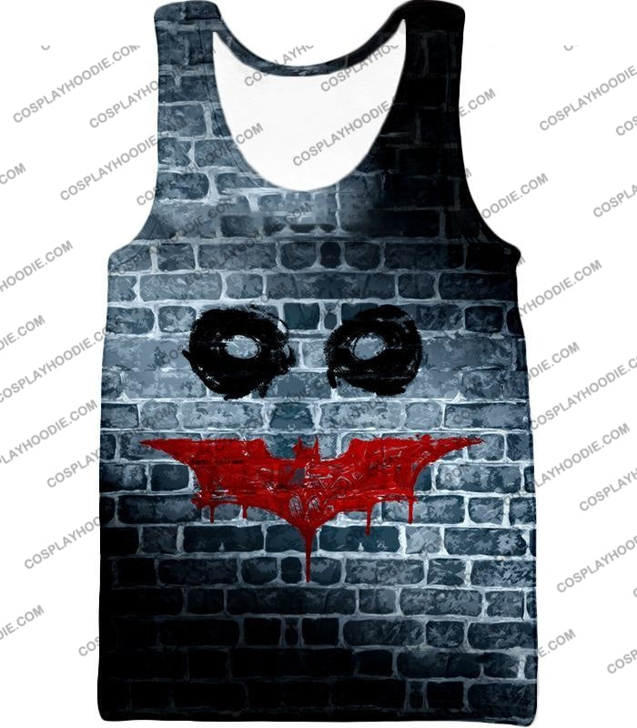 Amazing Batman X Joker Logo Promo Fan Art T-Shirt Bm022 Tank Top / Us Xxs (Asian Xs)