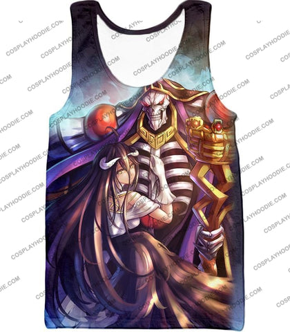 Image of Overlord Ainz Ooal Gown Extremely Evil Sorcerer King Super Cool Anime T-Shirt Ol022 Tank Top / Us