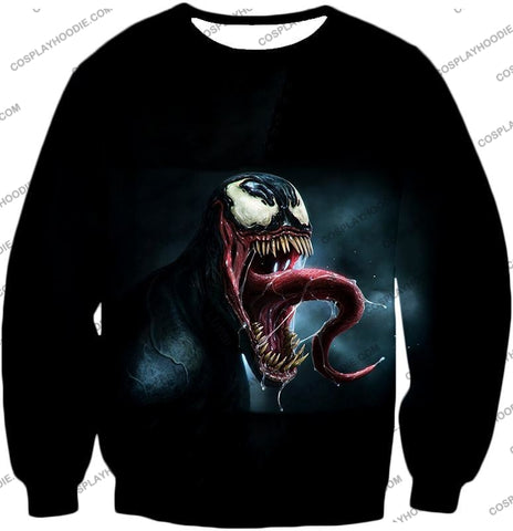 Deadly Symbiotic Alien Venom 3D Black T-Shirt Ve022 Sweatshirt / Us Xxs (Asian Xs)