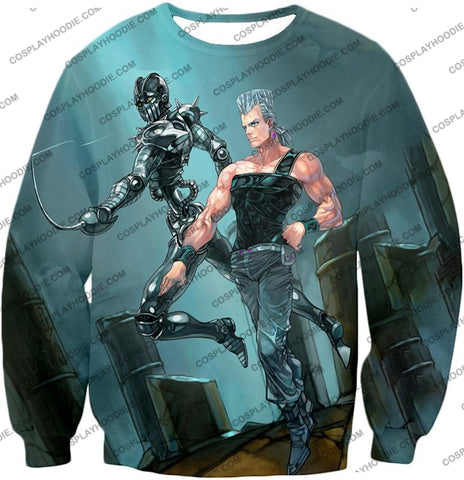 Image of Jojos Adventure C Jean Pierre Stand Silver Chariot Graphic T-Shirt Jo022 Sweatshirt / Us Xxs (Asian