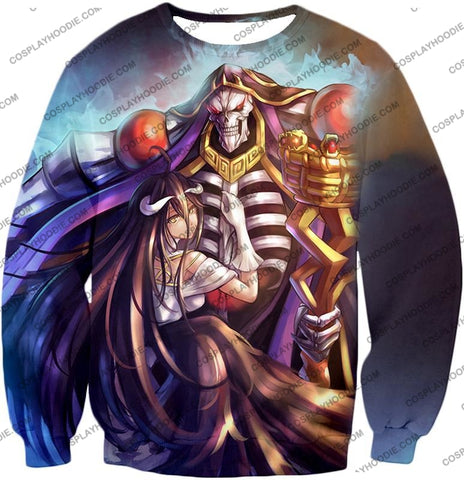 Image of Overlord Ainz Ooal Gown Extremely Evil Sorcerer King Super Cool Anime T-Shirt Ol022 Sweatshirt / Us