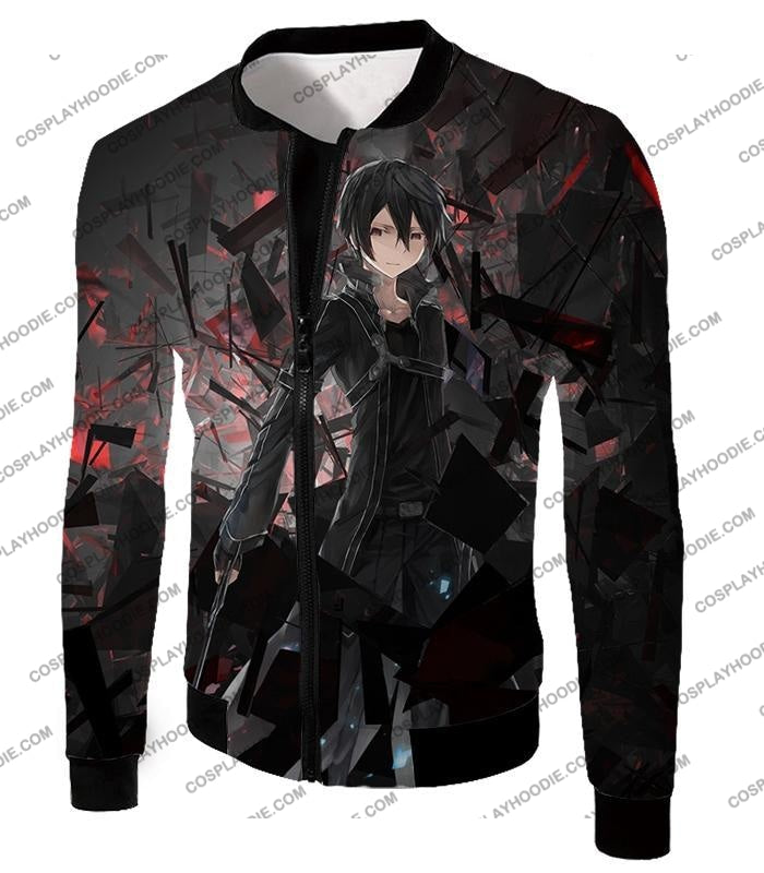Sword Art Online Extremely Awesome Vrmmorpg Sao Player Kirito The Black Swordsman T-Shirt Sao022