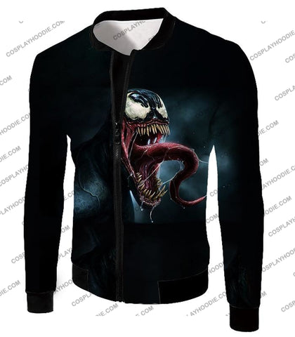 Deadly Symbiotic Alien Venom 3D Black T-Shirt Ve022 Jacket / Us Xxs (Asian Xs)