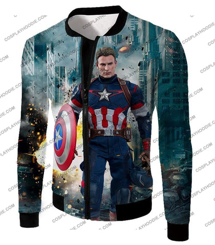 Image of The Avengers First Avenger Captain America Action T-Shirt Ta022 Jacket / Us Xxs (Asian Xs)