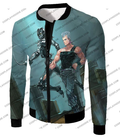 Image of Jojos Adventure C Jean Pierre Stand Silver Chariot Graphic T-Shirt Jo022 Jacket / Us Xxs (Asian Xs)