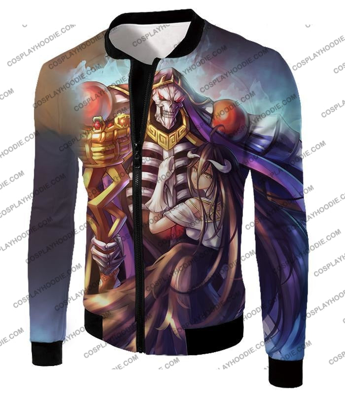 Overlord Ainz Ooal Gown Extremely Evil Sorcerer King Super Cool Anime T-Shirt Ol022 Jacket / Us Xxs