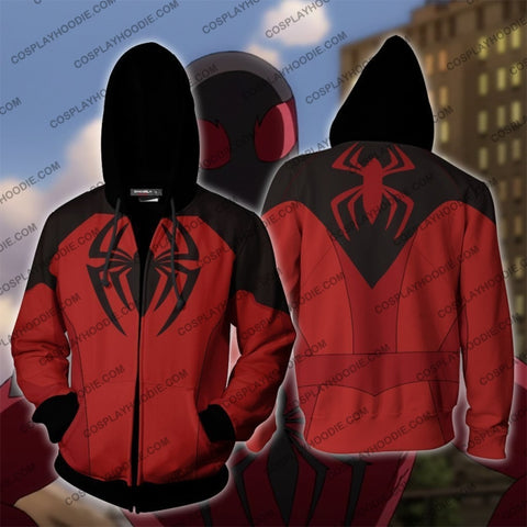 Image of Scarlet Spider Ii Cosplay Ps4 New Look Zip Up Hoodie Jacket