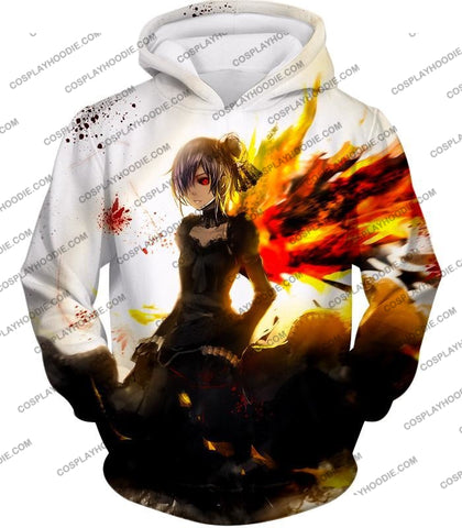 Image of Tokyo Ghoul Beautiful Short Haired Anime Girl Touka Amazing Graphic T-Shirt Tg073 Hoodie / Us Xxs