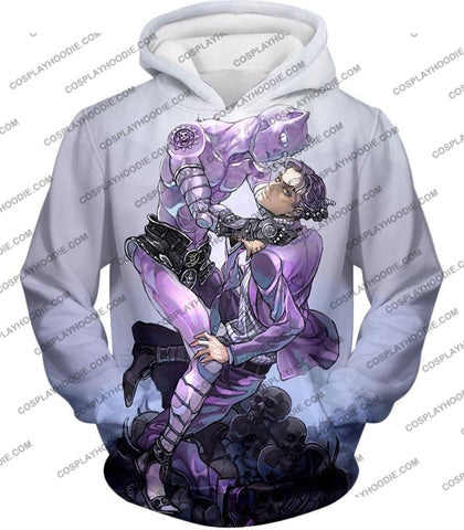 Image of Jojos Adventure C Killer Queen Graphic White T-Shirt Jo023 Hoodie / Us Xxs (Asian Xs)