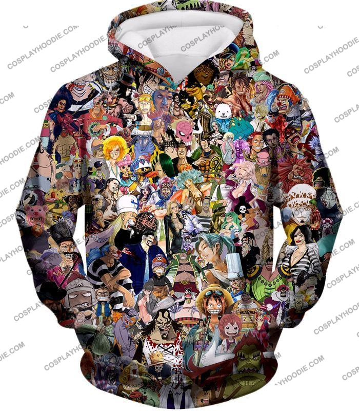 One Piece Awesome Anime All In Characters T-Shirt Op023 Hoodie / Us Xxs (Asian Xs)