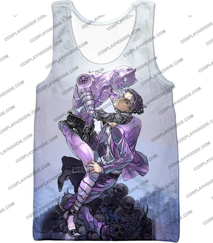 Image of Jojos Adventure C Killer Queen Graphic White T-Shirt Jo023 Tank Top / Us Xxs (Asian Xs)