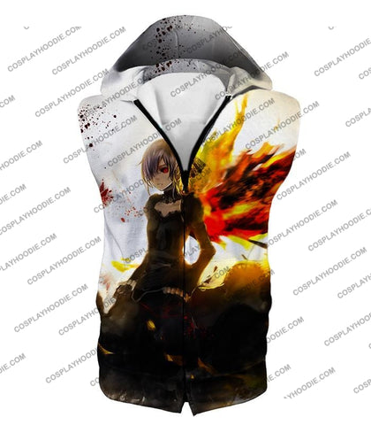Image of Tokyo Ghoul Beautiful Short Haired Anime Girl Touka Amazing Graphic T-Shirt Tg073 Hooded Tank Top /