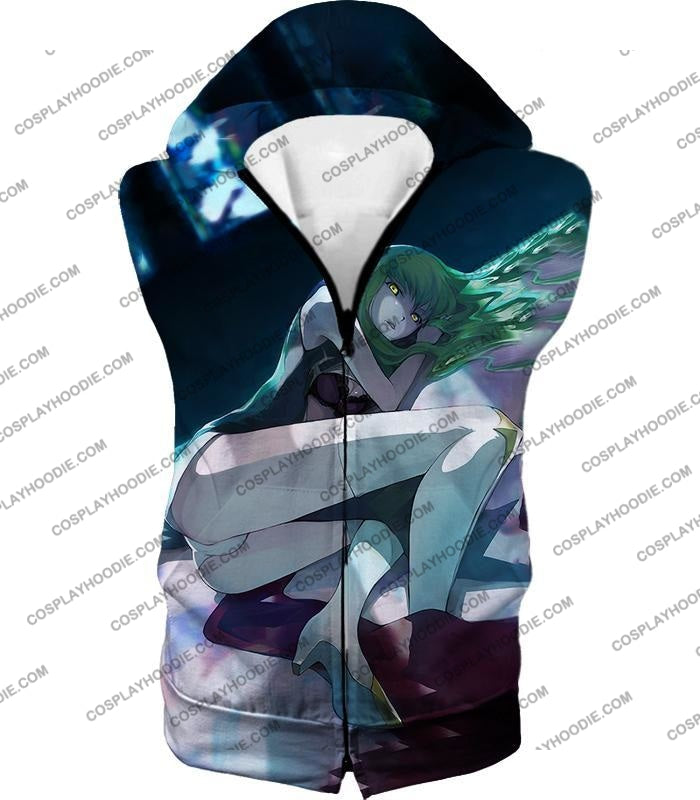 C.c. The Cheshire Cat Sexy Green Haired Anime Girl Poster T-Shirt Cg023 Hooded Tank Top / Us Xxs