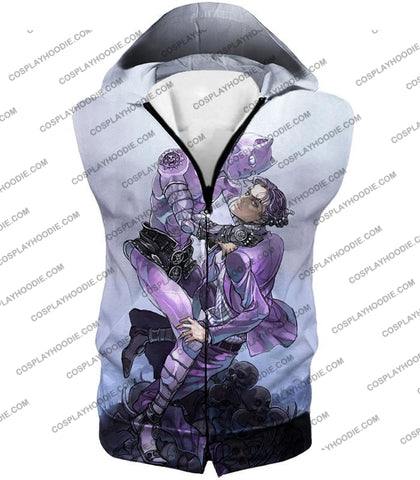 Image of Jojos Adventure C Killer Queen Graphic White T-Shirt Jo023 Hooded Tank Top / Us Xxs (Asian Xs)