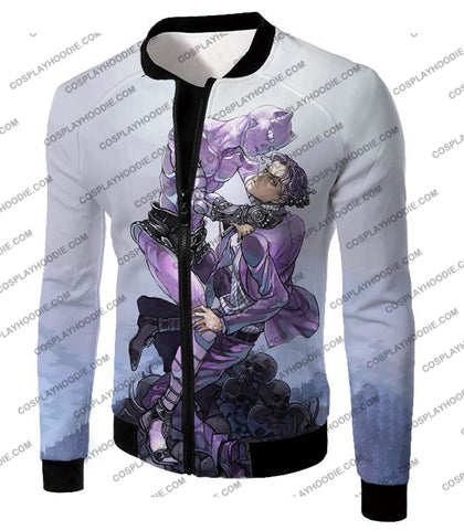 Image of Jojos Adventure C Killer Queen Graphic White T-Shirt Jo023 Jacket / Us Xxs (Asian Xs)