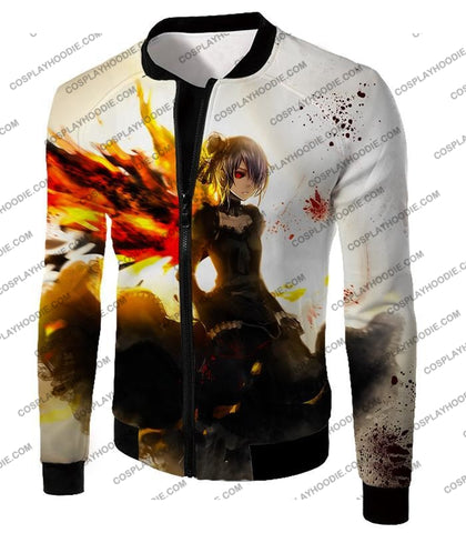Image of Tokyo Ghoul Beautiful Short Haired Anime Girl Touka Amazing Graphic T-Shirt Tg073 Jacket / Us Xxs
