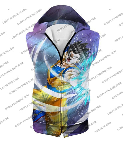 Image of Dragon Ball Super Awesome Saiyan Hero Gohan Cool Anime Action T-Shirt Dbs230 Hooded Tank Top / Us