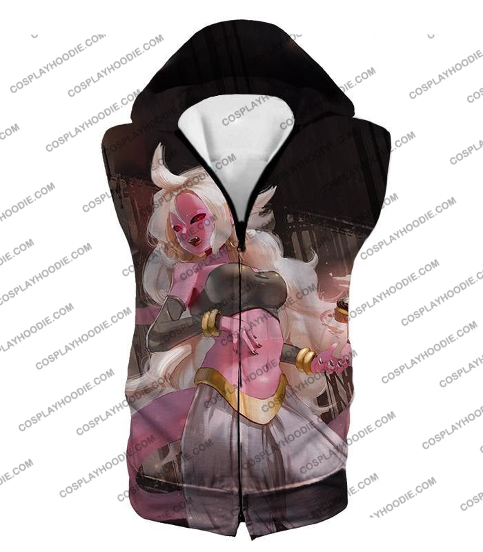 Dragon Ball Super Cool Villain Android 21 Ultimate Form Promo T-Shirt Dbs234 Hooded Tank Top / Us