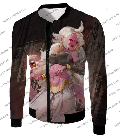 Image of Dragon Ball Super Cool Villain Android 21 Ultimate Form Promo T-Shirt Dbs234 Jacket / Us Xxs (Asian