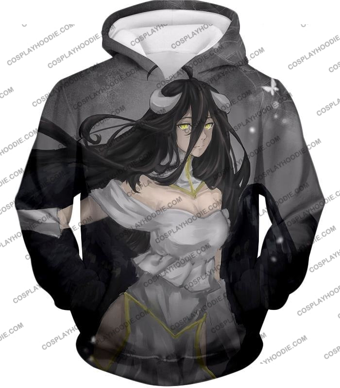 Overlord Beautiful Succubus The Pure White Devil Albedo Awesome Anime T-Shirt Ol024 Hoodie / Us Xxs