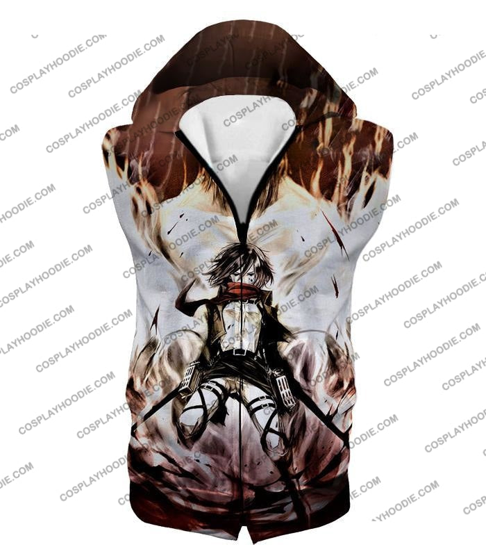Attack On Titan Amazing Fighter Mikasa Ackerman Cool Anime Graphic\ T-Shirt Aot074 Hooded Tank Top /