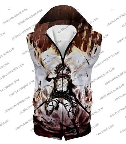 Image of Attack On Titan Amazing Fighter Mikasa Ackerman Cool Anime Graphic\ T-Shirt Aot074 Hooded Tank Top /