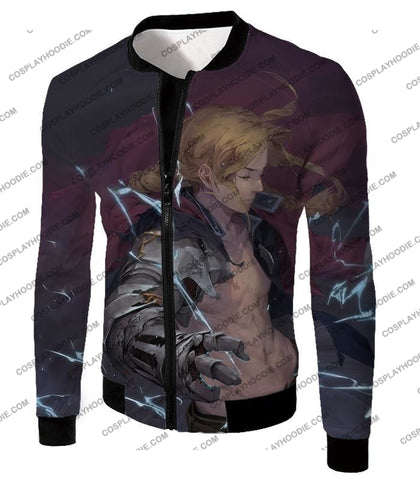 Image of Fullmetal Alchemist High Definition Fan Art State Edward Elrich Cool Poster T-Shirt Fa024 Jacket /