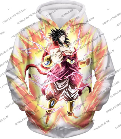 Image of Dragon Ball Super Legendary Saiyan Warrior Broly Ultra Instinct Rising Awesome White T-Shirt Dbs241