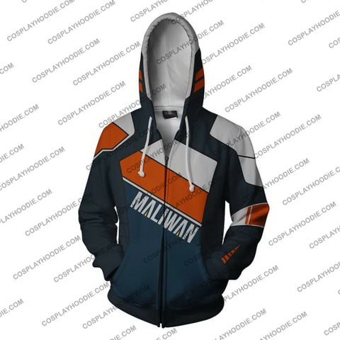 Borderlands Maliwan Zip Up Hoodie Jacket Cosplay