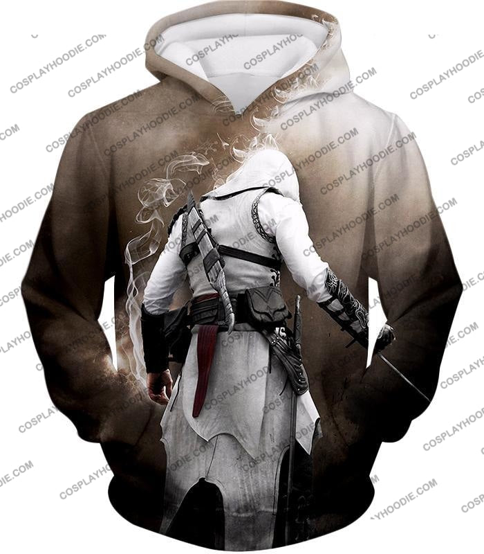 Assassins Legend Altair Ibn-Laahad Cool Action Promo T-Shirt Ac025 Hoodie / Us Xxs (Asian Xs)