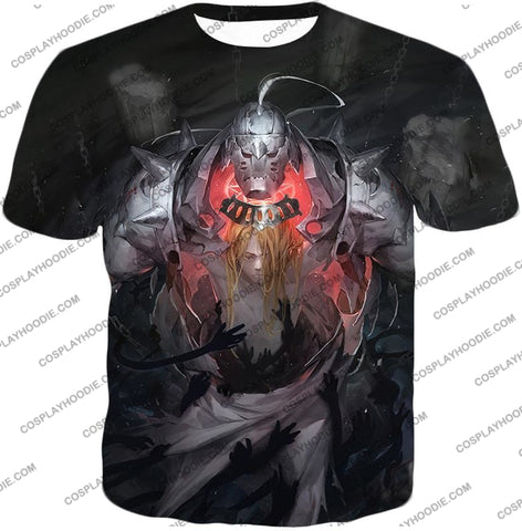 Image of Fullmetal Alchemist Brothers Together As One Edward X Alphonse Best Anime Poster T-Shirt Fa025 / Us