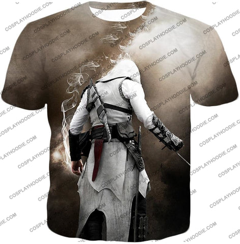 Image of Assassins Legend Altair Ibn-Laahad Cool Action Promo T-Shirt Ac025 / Us Xxs (Asian Xs)