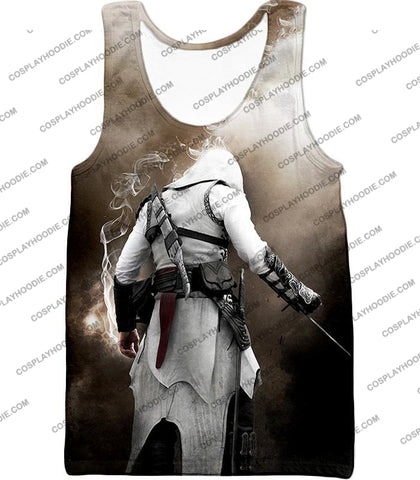Image of Assassins Legend Altair Ibn-Laahad Cool Action Promo T-Shirt Ac025 Tank Top / Us Xxs (Asian Xs)