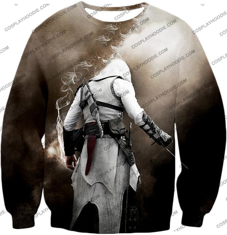 Image of Assassins Legend Altair Ibn-Laahad Cool Action Promo T-Shirt Ac025 Sweatshirt / Us Xxs (Asian Xs)