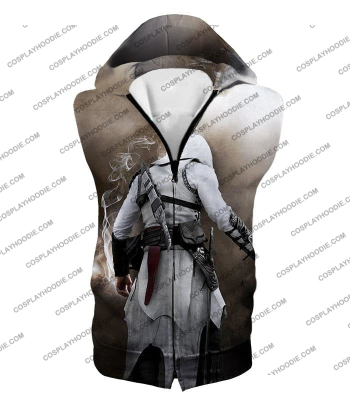 Assassins Legend Altair Ibn-Laahad Cool Action Promo T-Shirt Ac025 Hooded Tank Top / Us Xxs (Asian