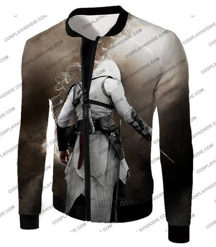 Image of Assassins Legend Altair Ibn-Laahad Cool Action Promo T-Shirt Ac025 Jacket / Us Xxs (Asian Xs)