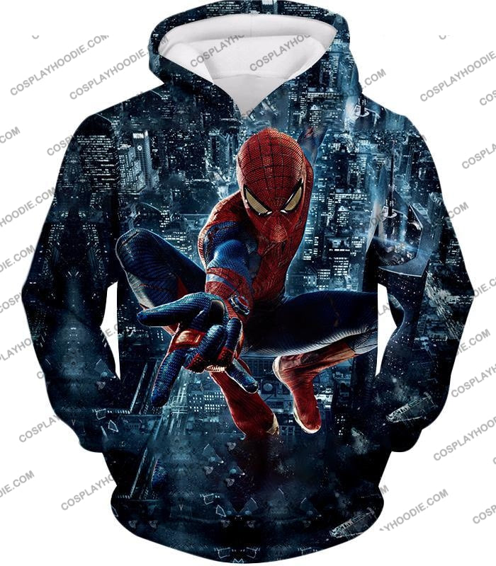 Marvel Hero Web Shooting Spiderman Awesome Action T-Shirt Sp026 Hoodie / Us Xxs (Asian Xs)