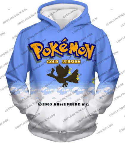 Image of Pokemon Super Cool Gold Version Game Promo T-Shirt Pkm026 Hoodie / Us Xxs (Asian Xs)