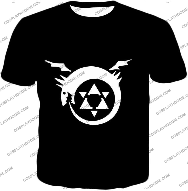 Fullmetal Alchemist Super Cool Homunculi Symbol Awesome Black T-Shirt Fa026 / Us Xxs (Asian Xs)