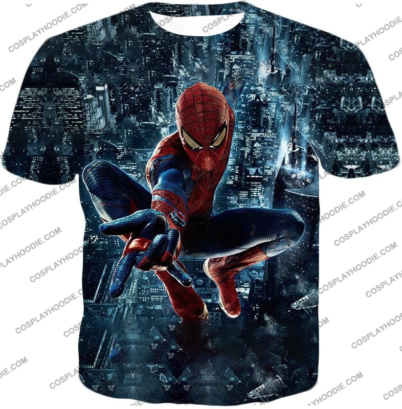 Marvel Hero Web Shooting Spiderman Awesome Action T-Shirt Sp026 / Us Xxs (Asian Xs)