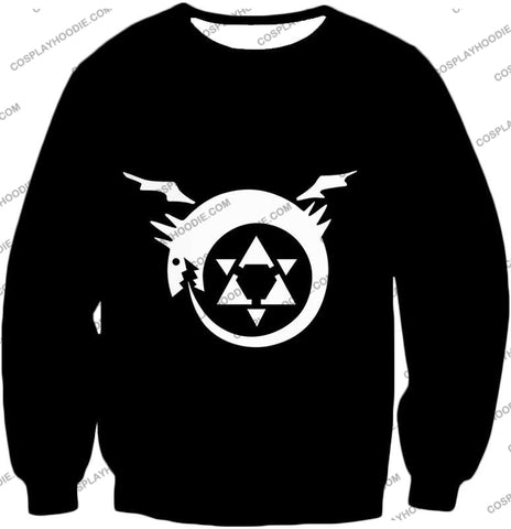 Image of Fullmetal Alchemist Super Cool Homunculi Symbol Awesome Black T-Shirt Fa026 Sweatshirt / Us Xxs