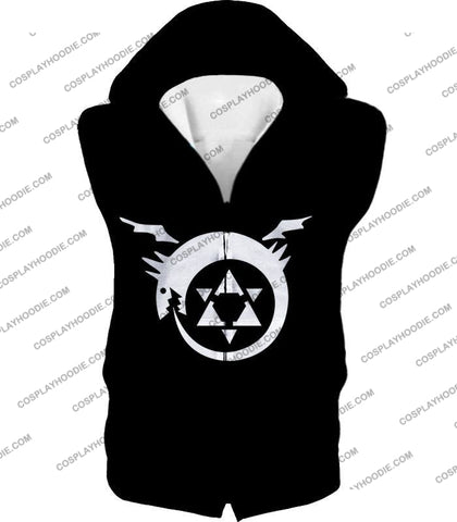 Image of Fullmetal Alchemist Super Cool Homunculi Symbol Awesome Black T-Shirt Fa026 Hooded Tank Top / Us Xxs