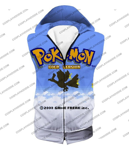 Image of Pokemon Super Cool Gold Version Game Promo T-Shirt Pkm026 Hooded Tank Top / Us Xxs (Asian Xs)