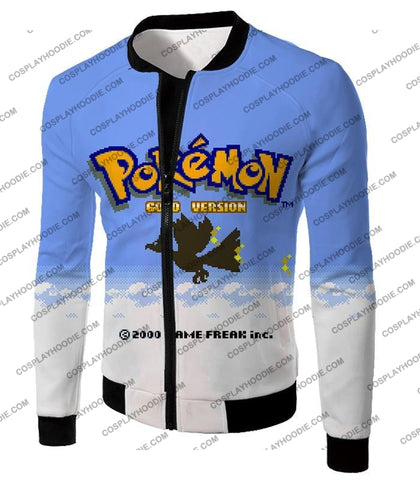 Image of Pokemon Super Cool Gold Version Game Promo T-Shirt Pkm026 Jacket / Us Xxs (Asian Xs)