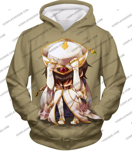 Image of Code Geass Child Hero Prince Lelouch Vi Britannia Cool Grey Poster T-Shirt Cg027 Hoodie / Us Xxs
