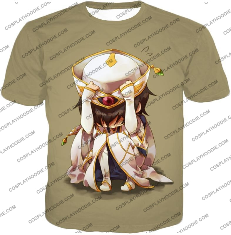 Code Geass Child Hero Prince Lelouch Vi Britannia Cool Grey Poster T-Shirt Cg027 / Us Xxs (Asian Xs)