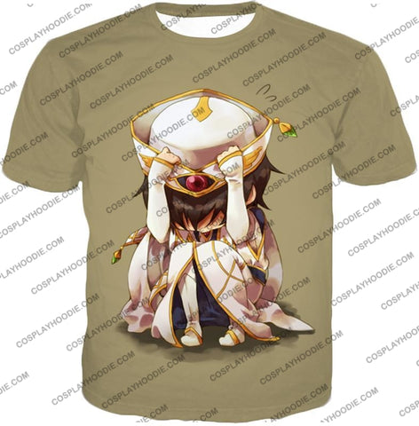 Image of Code Geass Child Hero Prince Lelouch Vi Britannia Cool Grey Poster T-Shirt Cg027 / Us Xxs (Asian Xs)