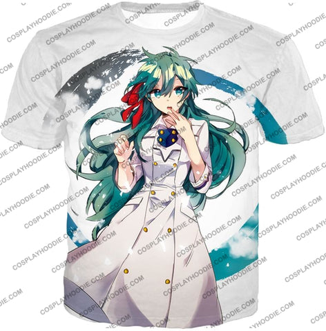 Image of My Hero Academia Cute Blue Haired Anime Girl Super Cool White T-Shirt Mha077 / Us Xxs (Asian Xs)