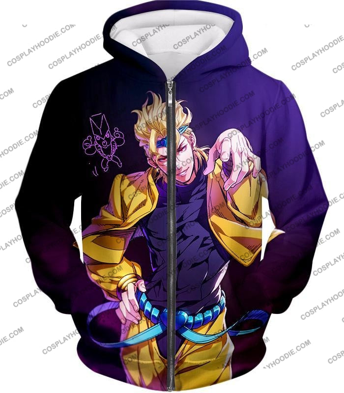 Jojos Adventure C Stardust Crusaders Dio Anime T-Shirt Jo027 Zip Up Hoodie / Us Xxs (Asian Xs)